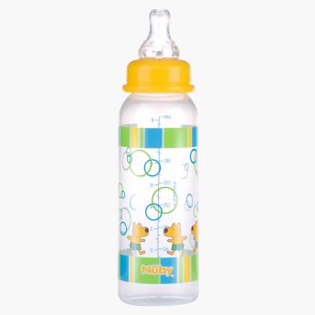 Nuby Printed Feeding Bottle - 240 ml