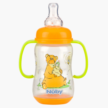 Nuby Printed Feeding Bottle with Handle - 150 ml