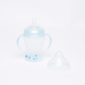Nuby Printed Feeding Bottle with Handles - 240 ml