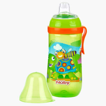 Nuby Printed Free Flow Spout Sipper Bottle with Cover - 360 ml