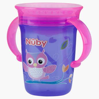 Nuby Printed Wonder Sip Cup with Handle and Cover - 240 ml