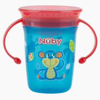 Nuby Printed Wonder Cup Sipper with Handle - 240 ml