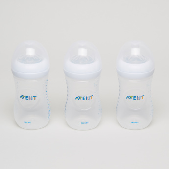 Philips Avent Printed 3-Piece Feeding Bottle Set - 260 ml