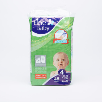 Fine 48-Piece Baby Diapers - Large