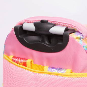 Juniors Printed Convertible Trolley Bag with Zip Closure