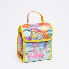 Juniors Printed Lunch Bag with Hook and Loop Closure
