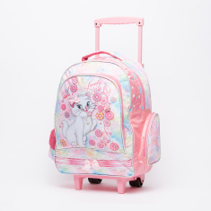 Juniors Lulu Caty Printed Trolley Backpack with Zip Closure