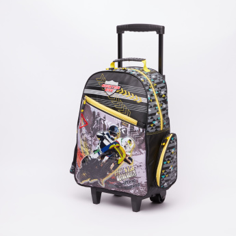 70dc8d7506 Juniors Printed Trolley Backpack with Zip Closure