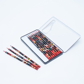 The Incredibles Printed 12-Piece Colour Pencil Set with Case