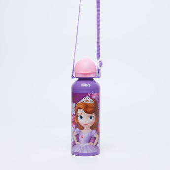 Sofia the Princess Printed Water Bottle with Strap - 500 ml
