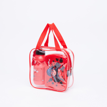 Miraculous Ladybug Printed Lunchbox with Water Bottle