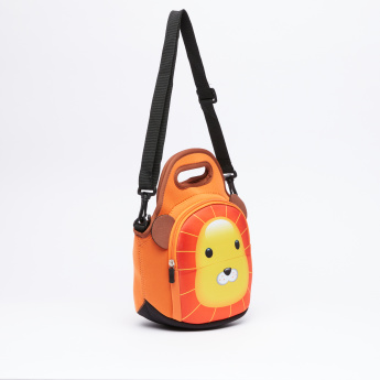 Juniors Printed Lunchbag with Zip Closure and Adjustable Strap