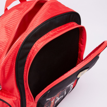 Ferrari Printed Backpack with Zip Closure