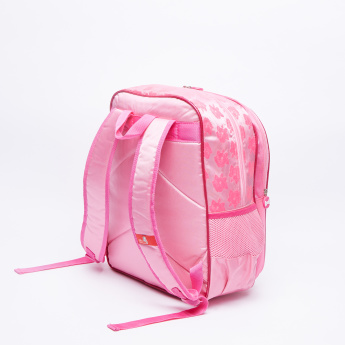 Marie Printed Backpack with Zip Closure and Adjustable Straps