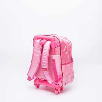 Marie Printed Trolley Backpack with Zip Closure