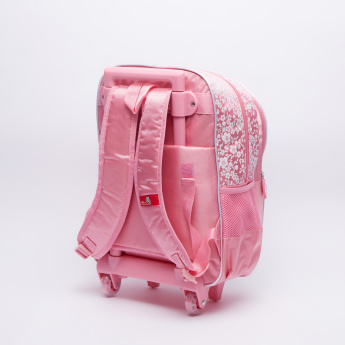 Disney Princess Printed Trolley Backpack with Zip Closure