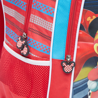 Mickey and the Roadster Racers Printed Backpack with Zip Closure
