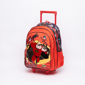 79b3e562a6d1 The Incredibles Printed Trolley Backpack with Adjustable Straps ...