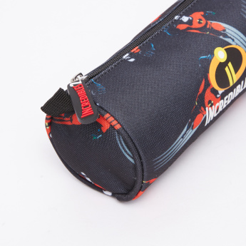 The Incredibles 2 Printed Round Pencil Case with Zip Closure