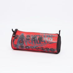 Avengers Printed Round Pencil Case with Zip Closure