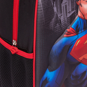Superman Printed 3-Piece Trolley Backpack Set