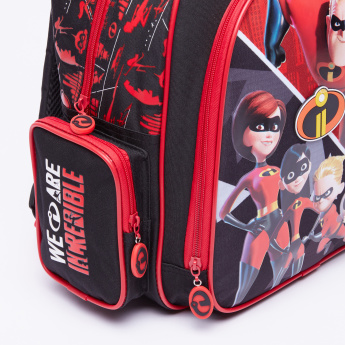 The Incredibles Printed Backpack with Zip Closure
