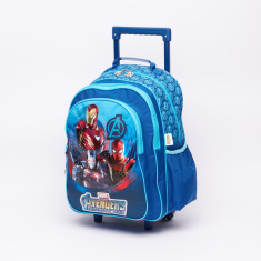 Avengers Printed Trolley Backpack with Zip Closure