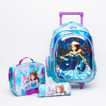 d6496a4924 Juniors Printed Trolley Backpack Set