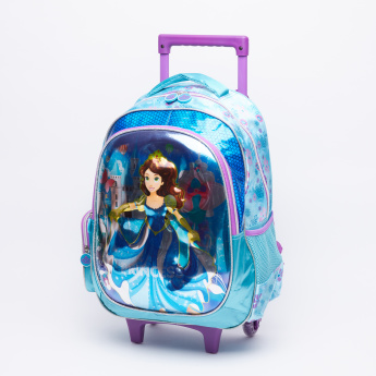 Juniors Printed Trolley Backpack Set
