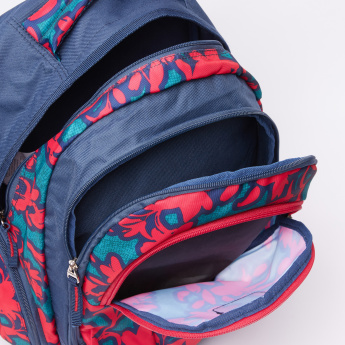 Printed Backpack with Pencil Case