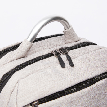 Textured Backpack with Laptop Section and Adjustable Straps