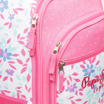 Pepe Jeans Printed Convertible Trolley Backpack