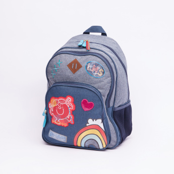 Mr. Men and Little Miss Printed Backpack with Zip Closure