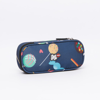 LYC SAC Printed Pencil Case with Zip Closure