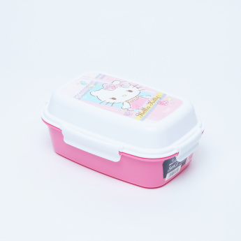Hello Kitty Printed Lunchbox with 4 Clips
