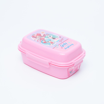 Shopkins Printed Lunch Box with Trays and Clip Closure