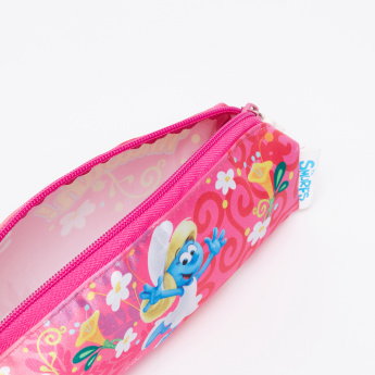 The Smurfs Printed Pencil Case with Zip Closure