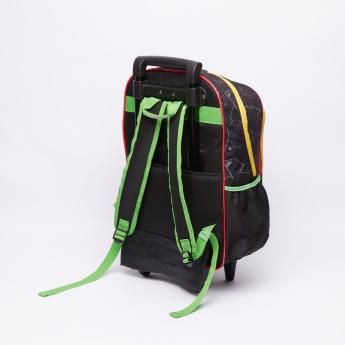 Ben 10 Printed Trolley Backpack with Zip Closure