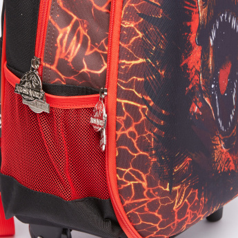 Jurassic World Printed Trolley Backpack with Zip Closure