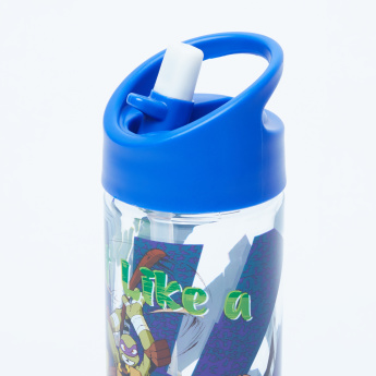 Ninja Turtle Printed Water Bottle with Spout - 500 ml