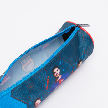 FC Barcelona Printed Pencil Case with Zip Closure