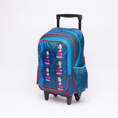 FC Barcelona Printed Trolley Backpack with Zip Closure