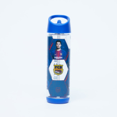 FC Barcelona Printed Water Bottle with Spout - 500 ml