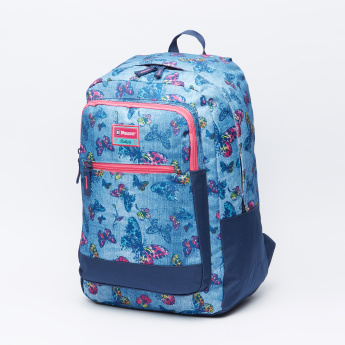 e1c6b6d55ba2 Pause Butterfly Printed Backpack with Adjustable Shoulder Straps ...