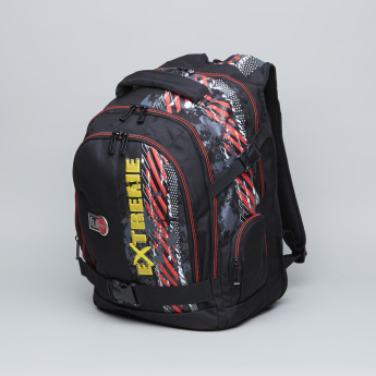 fullstop. Printed Backpack with Adjustable Straps