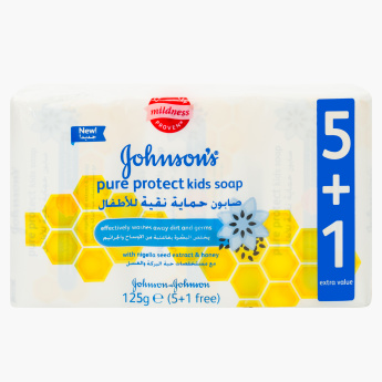 Johnson's 6-Piece Pure Protect Soap Set