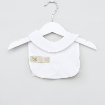 Giggles Ruffle Detail Bib with Press Button Closure