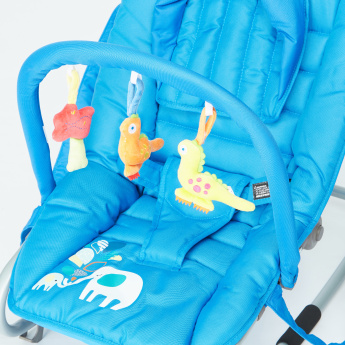 Juniors Fossil Baby Rocker with Toy Bar