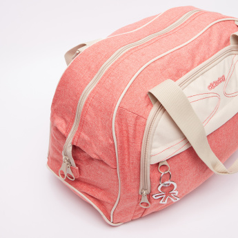 Okiedog Textured Diaper Bag with Zip Closure