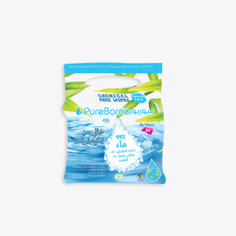 Pureborn Chemical-Free Travel Wipes